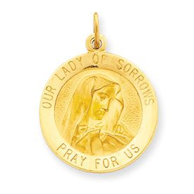 Our Lady of Sorrows Pray For Us Medal Charm (JC-940)