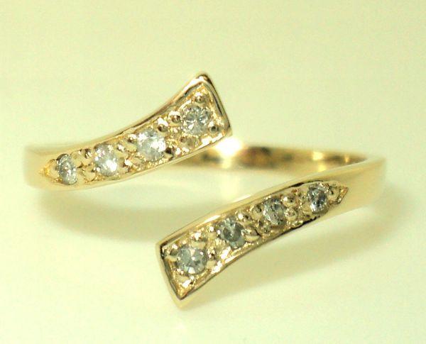 8 Stone Diamond Toe Ring (JC-1011)