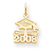 Satin Polished 2008 Graduation Charm (JC-1015)
