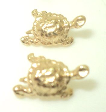 Diamond Cut Turtle Earrings (JC-1034)