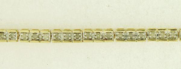 1.2 CT. T.W. Diamond Tennis Bracelet in 10k Yellow Gold