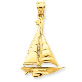 Large Sail Boat Charm (JC-647)