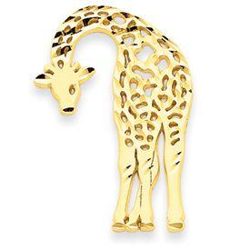 Diamond Cut Giraffe Charm (JC-054)