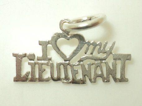 I Heart My Lieutenant Charm (JC-033)