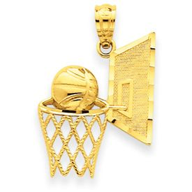 Basketball Basket w/ Backboard Pendant (JC-021)