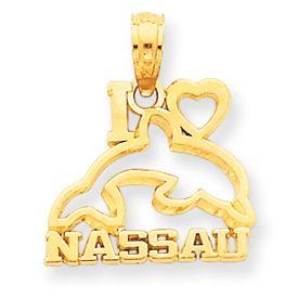 I Love Nassau Dolphin Pendant (JC-004)