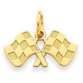 Checkered Flags Charm (JC-055)
