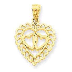 Heart w/ 2 Hearts Inside Charm (JC-681)