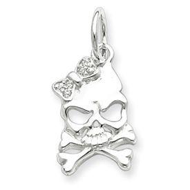 CZ Skull w/ Bow (JC-682)