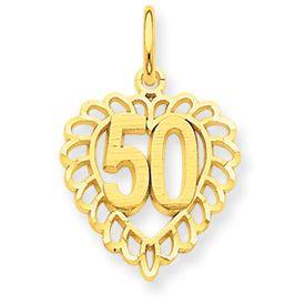 Cut-Out 50 in Heart Pendant (JC-699)