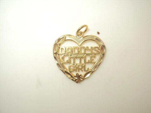 Daddy's Little Girl Heart Charm (JC-762)