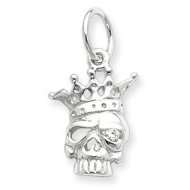 CZ Skull With Crown Charm (JC-791)