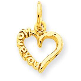 I Love You Heart Pendant (JC-822)
