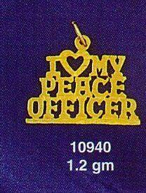 I Heart My Peace Officer Charm (JC-825)