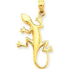 Polished Lizard Pendant (JC-893)