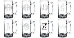 Four Custom Engraved Stein Glasses