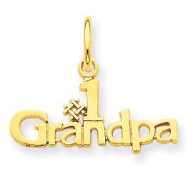 Number 1 Grandpa Charm (JC-063)