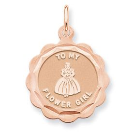 To my Flower Girl Charm (JC-067)