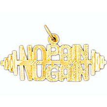 No Pain No gain Barbell Charm (JC-108)