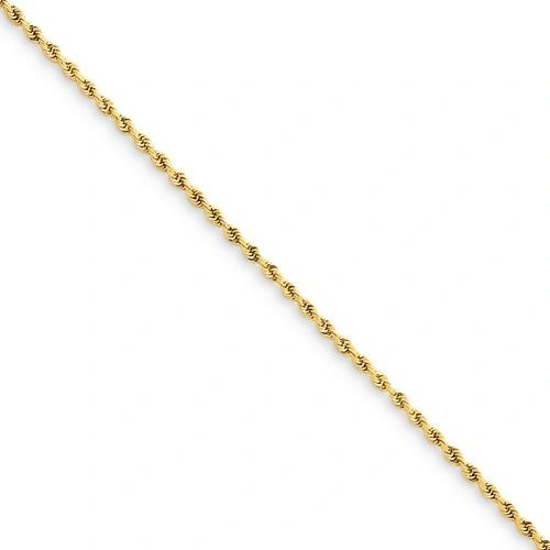 14k 1.50mm D/C Rope With Lobster Clasp Chain