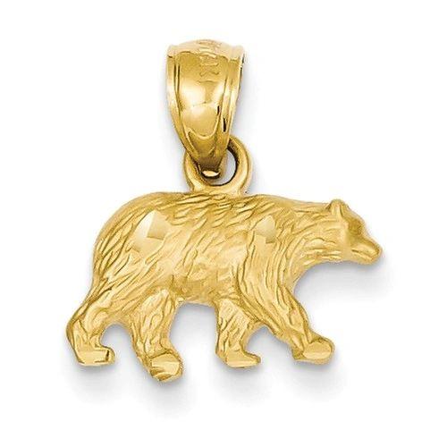 Diamond Cut Bear Pendant (JC-1145)
