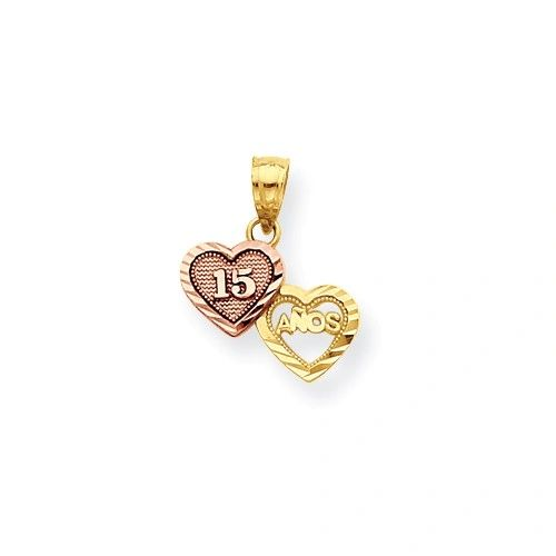 Two-Tone Small Sweet 15 Charm (10C967)