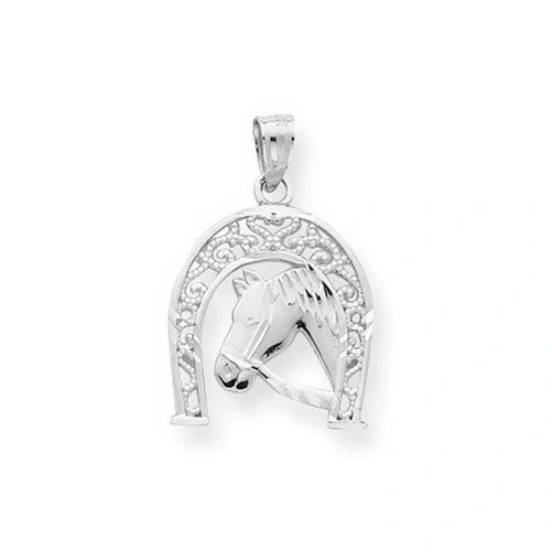Good Luck Horseshoe W/ Horse Charm (10C1028)