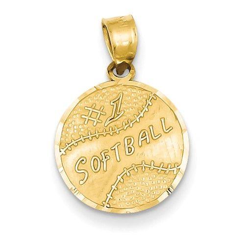 Number 1 Softball Disc Pendant (YC39)