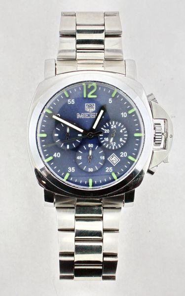 MEGIR 3006 Men Stainless Steel Watch Luminous Hand Quartz Dress Wristwatch