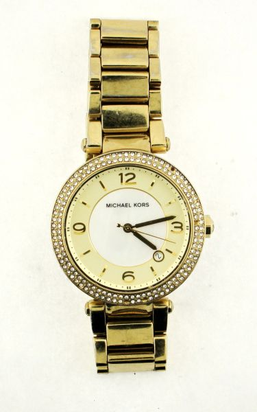 Michael Kors MK5089 Ladies Watch Gold Tone Mother Of Pearl Face