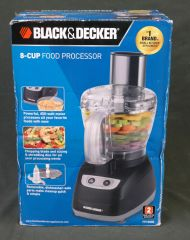 BLACK & DECKER Black Stainless Steel 8 Cup Base/Motor Food Processor FP1800B