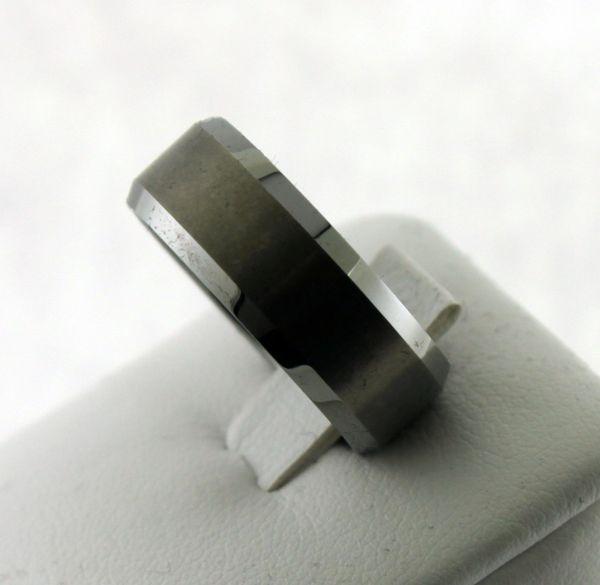 8mm Men's Tough Tungsten Carbide Ring High Polish Size 8