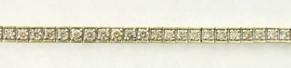 4.08 CT. T.W. Diamond Tennis Bracelet in 10K Yellow Gold