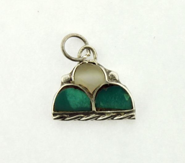 Small Turquoise Hill Design Charm