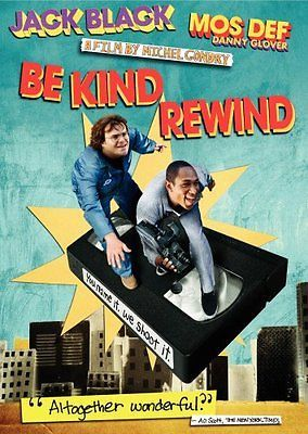 Be Kind Rewind (DVD, 2008) Jack Black, Mos Def, Danny Glover, Mia Farrow