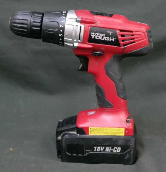 Hyper Tough Electric Driver Tool Set 18 Volts Cordless AQ75005G