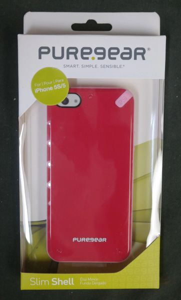*NEW* Pure Gear Slim Shell Case Red for iPhone 5/5S/SE