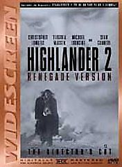 Highlander 2: The Quickening (DVD, 1998, Renegade Version Director's Cut)