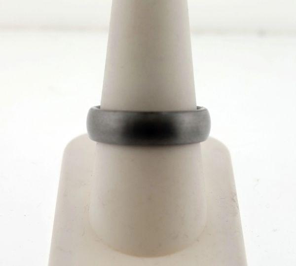 Men's 6.0mm Comfort Fit Sleek Grey Tungsten Wedding Band