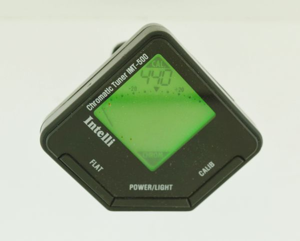 Intelli IMT-500 Clip-On Guitar TUNER Compact Chromatic IMT500 LCD Backlight
