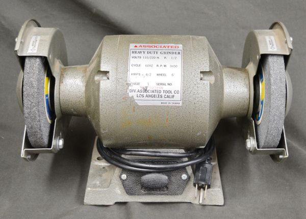 """6"""" Electric Bench Grinder Shop Power Tools"""