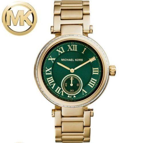 Michael Kors MK-6065 Emerald Green Dial Gold Tone Ladies Watch
