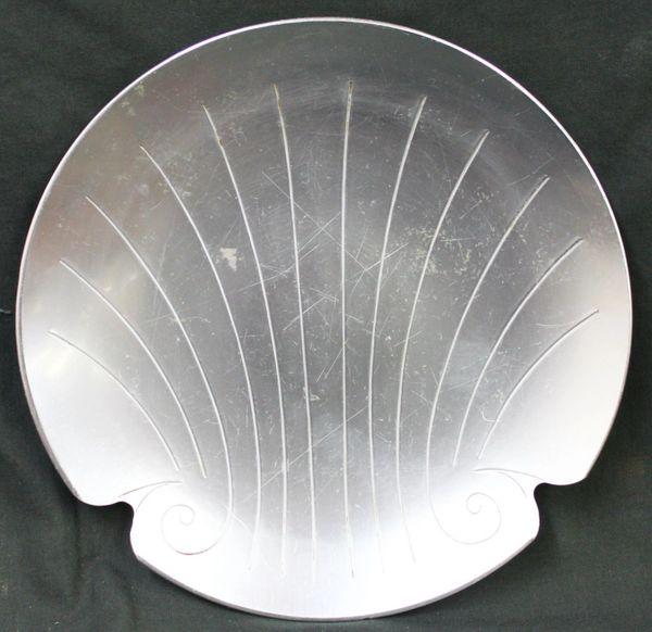 Vintage Kensington Aluminum Platter / Dish Art Deco Shell