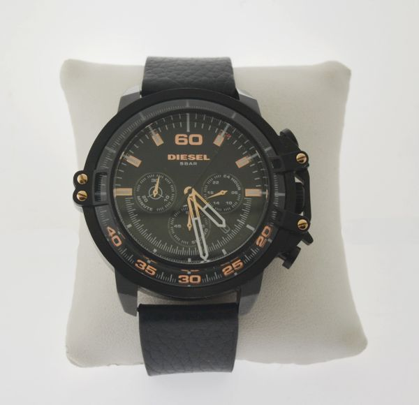 Diesel DZ4409 Deadeye Black Leather Chronograph Men's Watch
