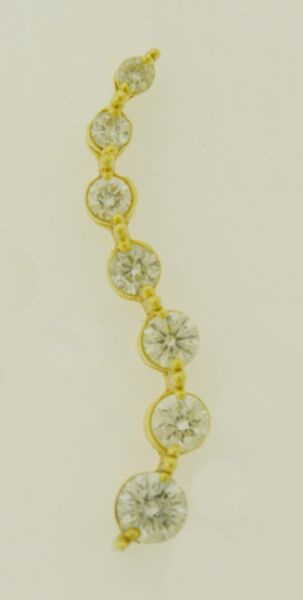 14k Yellow Gold Journey 1 ct. tw. Diamond Pendant