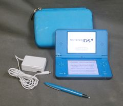 Nintendo DSi XL Blue Handheld System W/ Case, Charger, and Styl