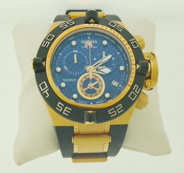 Invicta 16147 Men's Rare Venom Swiss Reserve Chrono Blue Dial White Poly Watch