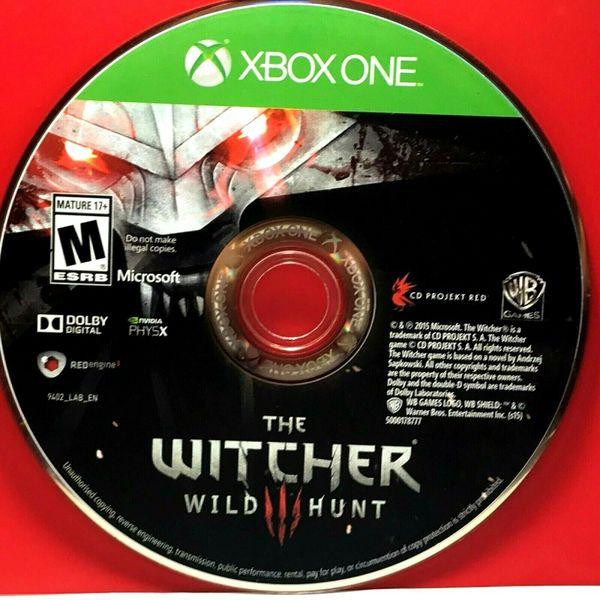 Witcher 3: Wild Hunt (Microsoft Xbox One, 2016) DISC ONLY