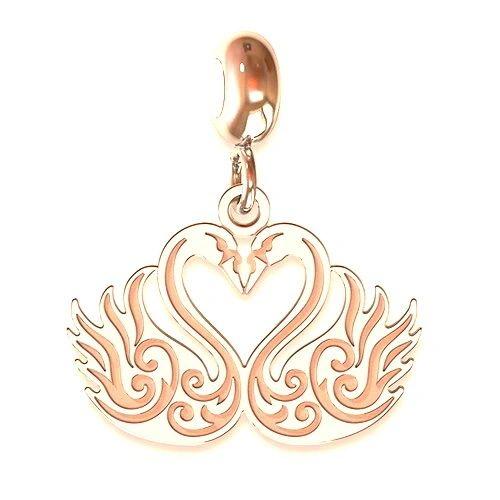 Swan Heart Charm