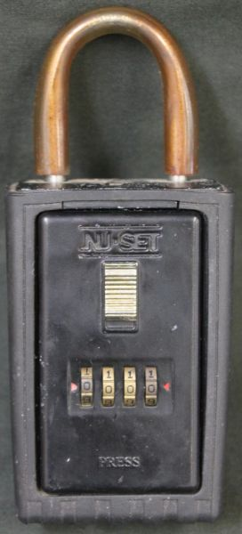 NU-SET High Security Lock Box #2020 with Resettable 4 Number Combination